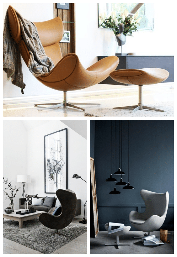 fauteuil oeuf style design