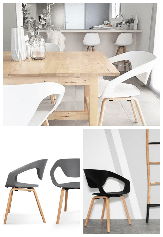 chaises modernes scandinaves