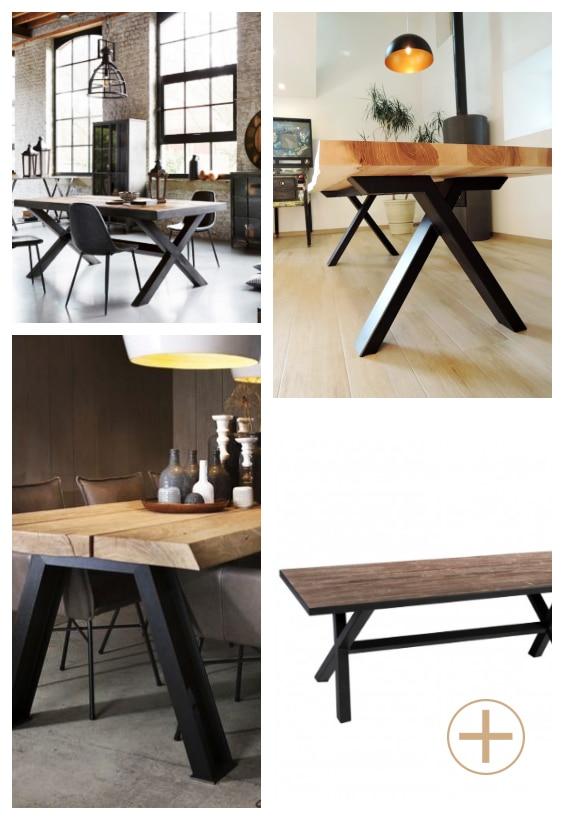 table indus bois et métal