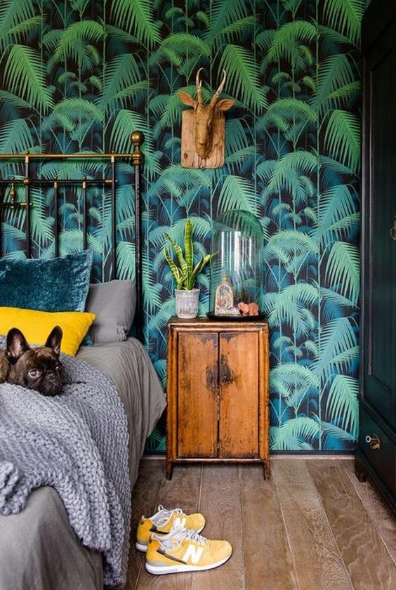 tendances papier peint tropical