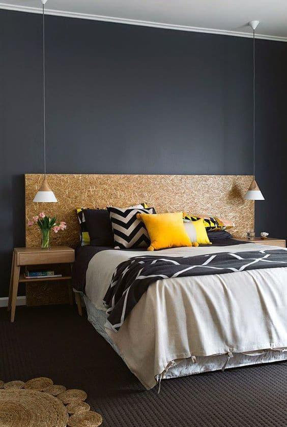 aménagement chambre lit