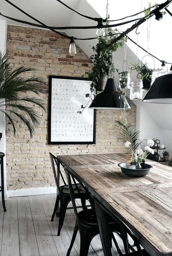 salle à manger style industriel