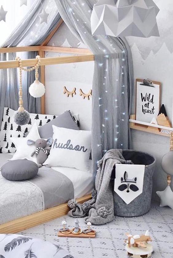 lit cabane chambre enfant
