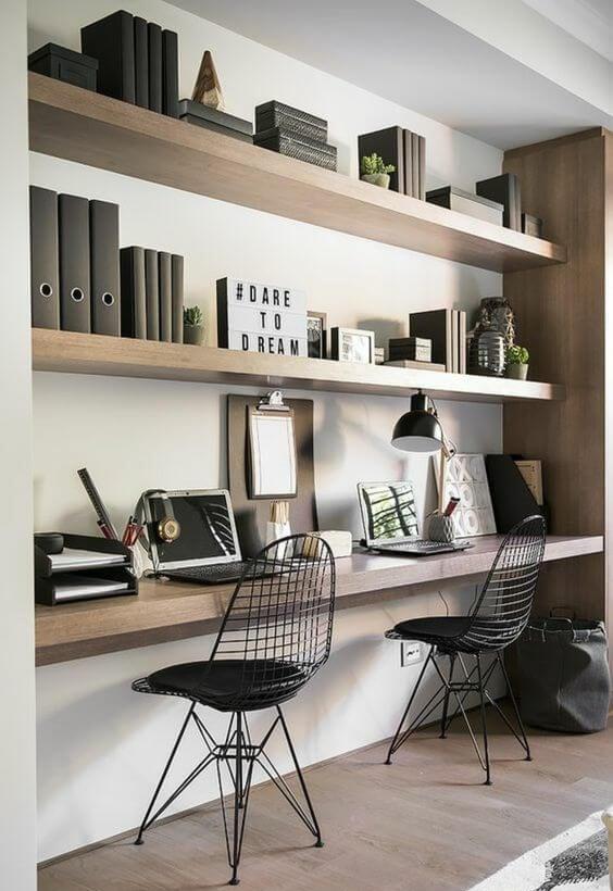 coin bureau déco minimaliste