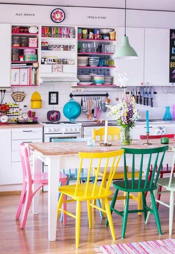 décoration intérieure multi couleurs