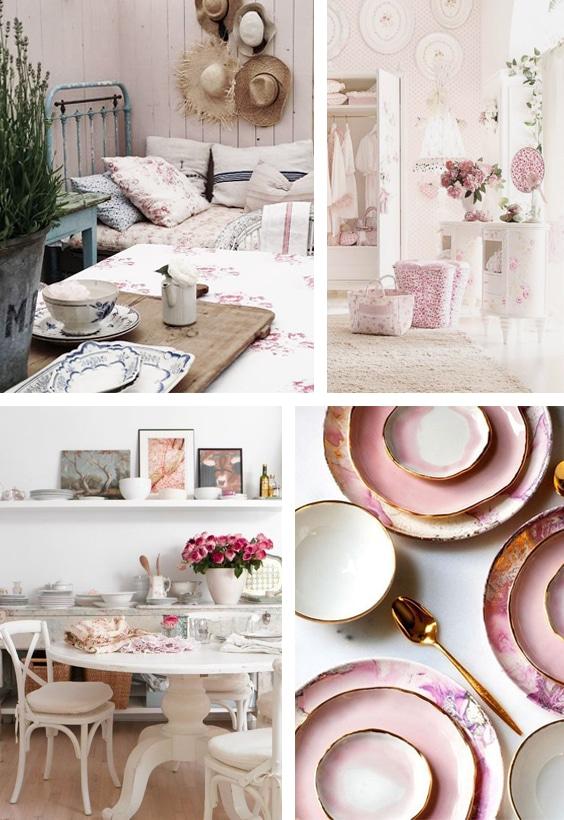 décoration romantique rose