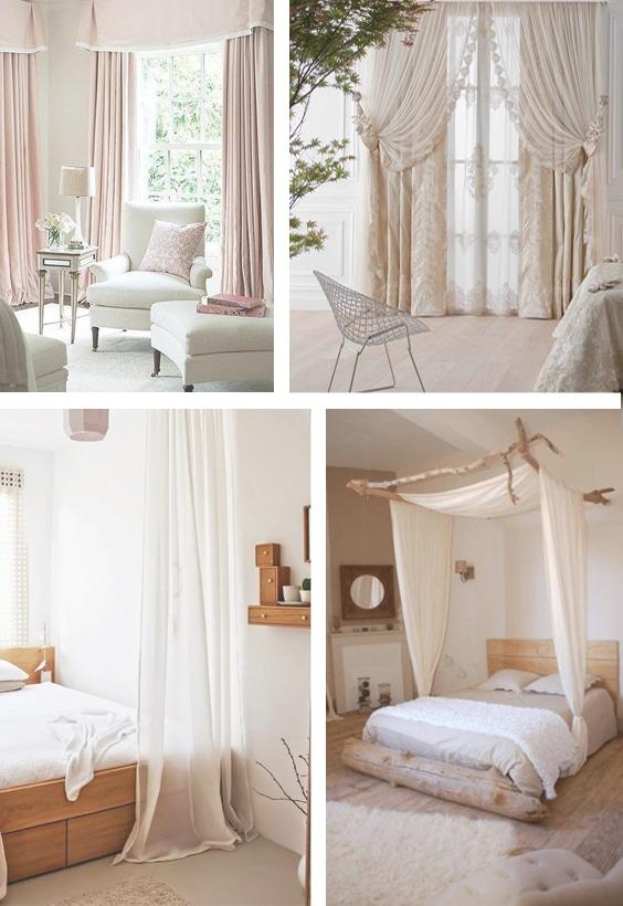 déco romantique rideaux