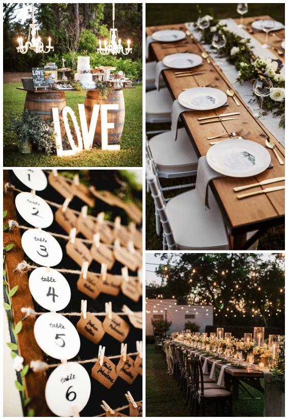 décoration de mariage champêtre