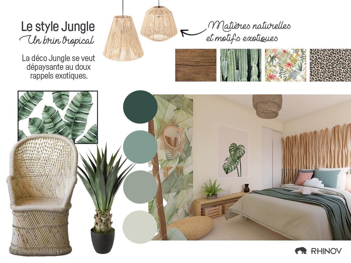 codes décoration jungle