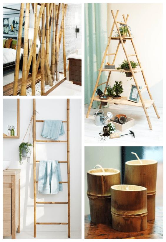 décoration naturelle bambou