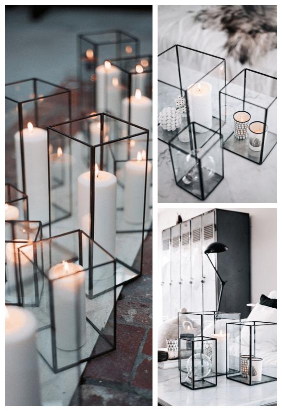bougies décoration graphique