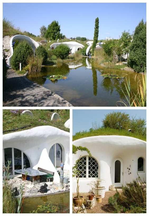 maisons troglodytes d'architectes