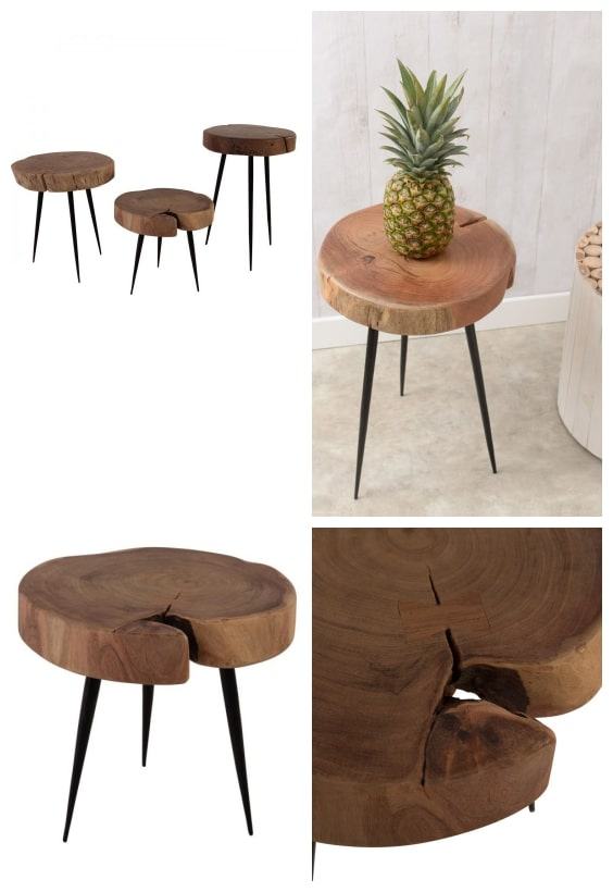 table tronc de bois