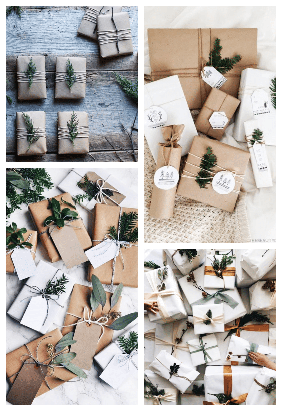 emballage cadeaux kraft