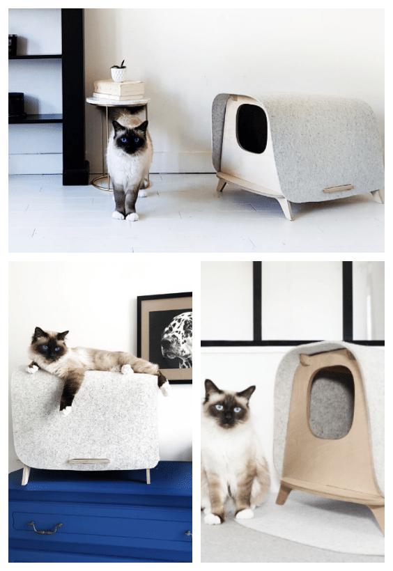 niche litière chat design