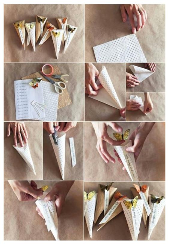 DIY emballage cadeau cone