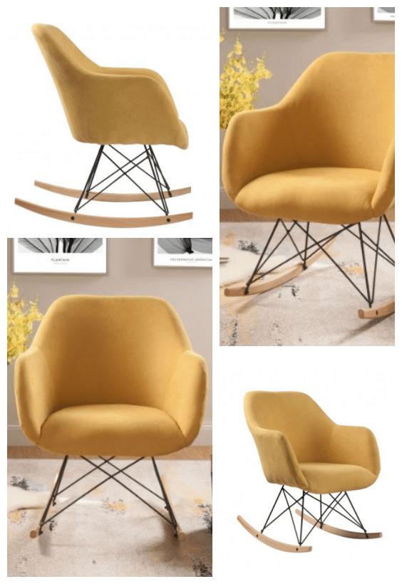 fauteuil à bascule vintage moderne