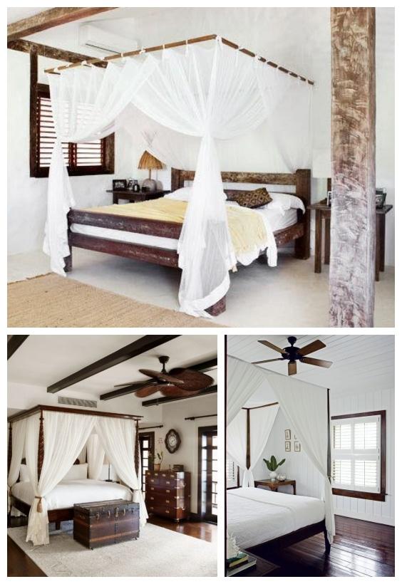 chambre décoration coloniale