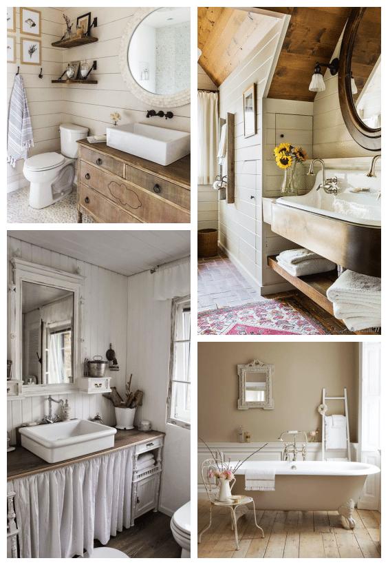 déco salle de bains rustique maison de famille