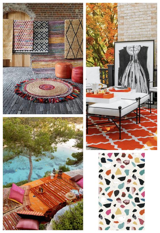 tapis outdoor colorés