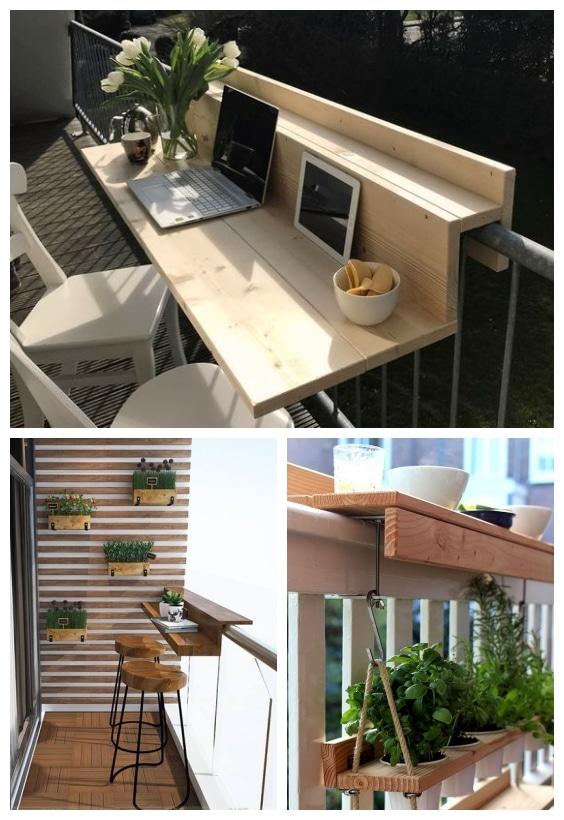 aménagement balcon bar