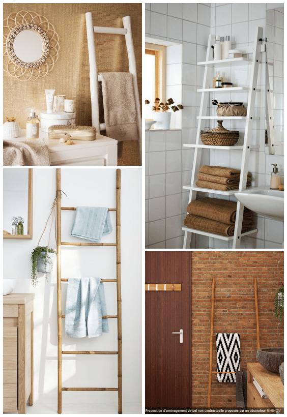 échelle salle de bains