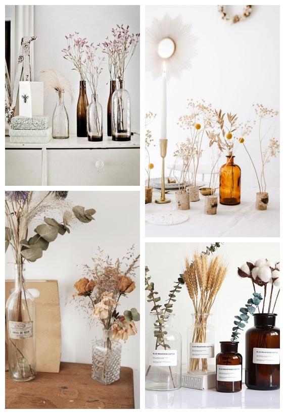 déco vintage bouquet fleurs séchées
