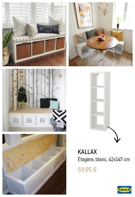 Ikea hacks banquette kallax
