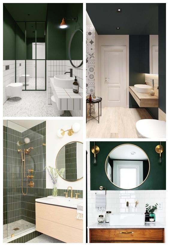 salle de bain couleur vert