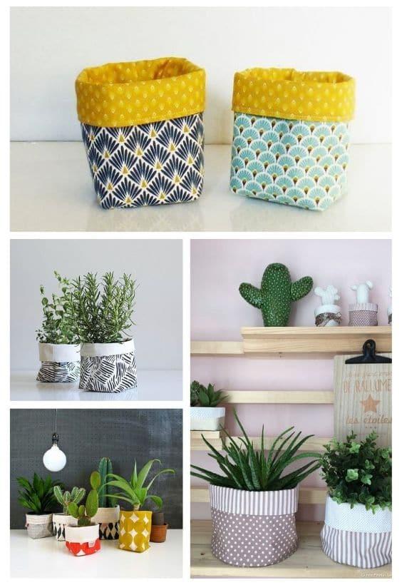 cache-pot tissu