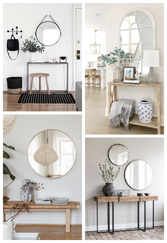 décoration miroir petite entrée