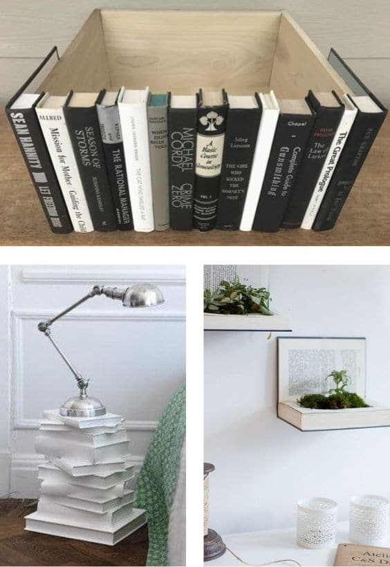 recycler livre objet déco