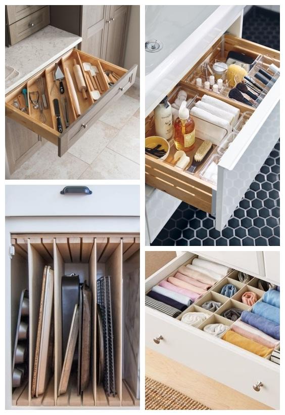 Rangements compartiment tiroirs