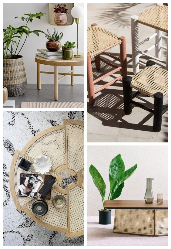 table basse cannage