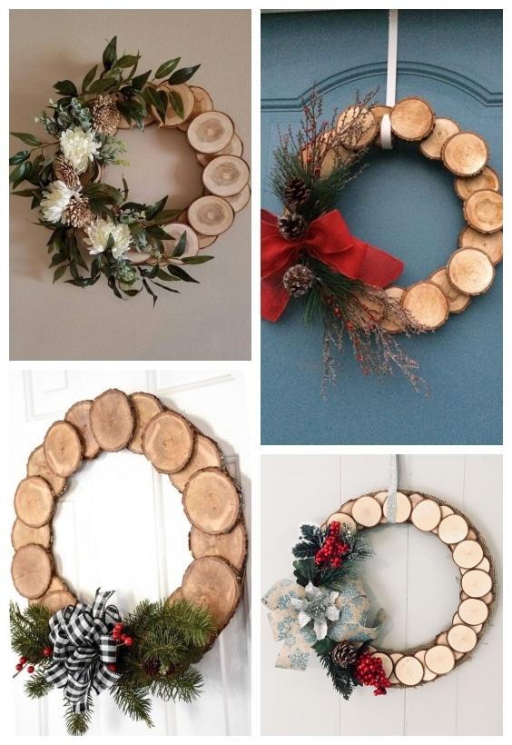 couronne de Noël en bois