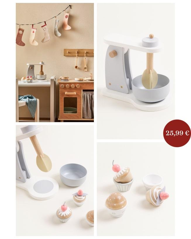 cadeaux de Noël jouets en bois dînette