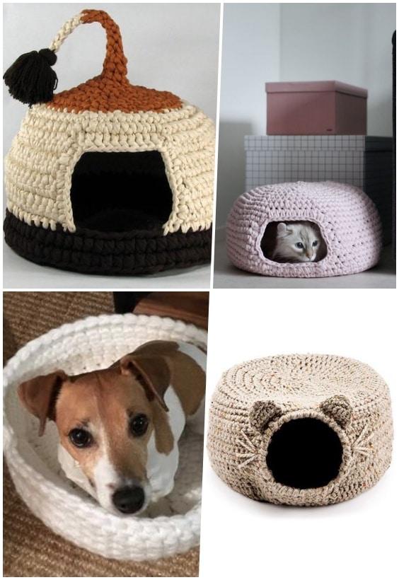 panier animal en tricot