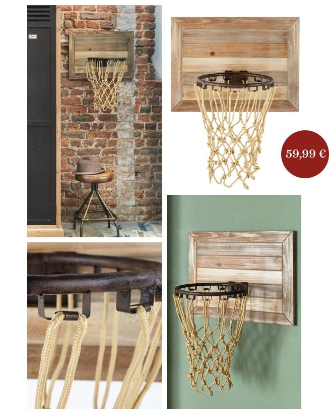 cadeaux de Noël panier de basket déco vintage