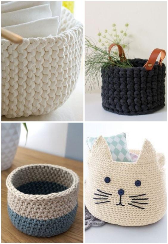 paniers en tricot