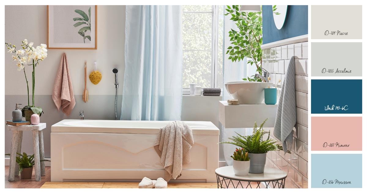 peintures couleurs salle de bains