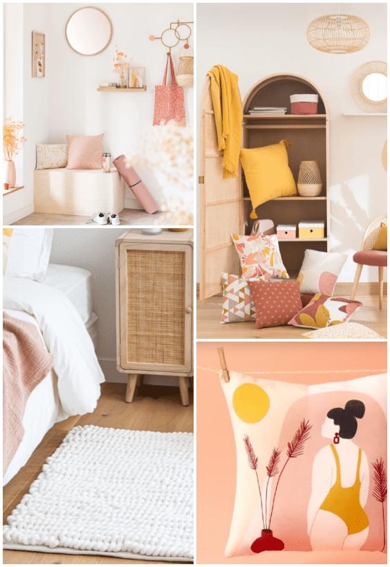 décoration rose soft mood maisons du monde