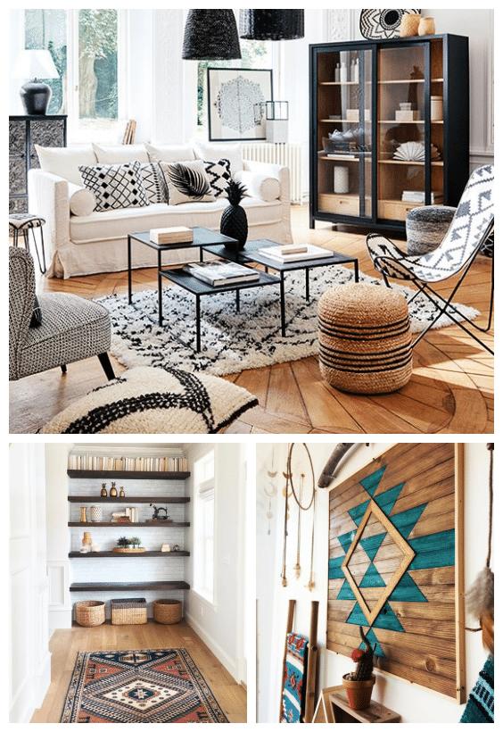 décoration bohème bois