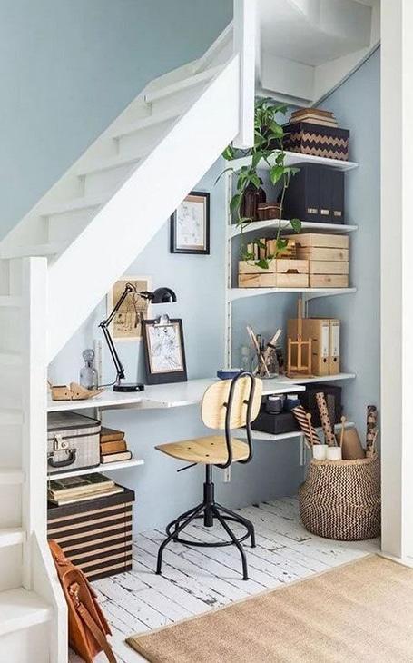 aménagement bureau escalier