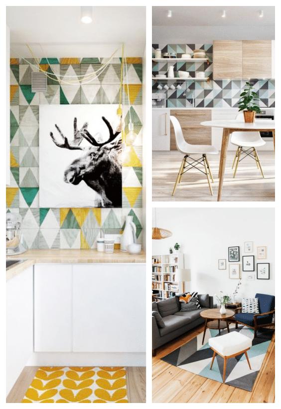 style scandinave géométrique