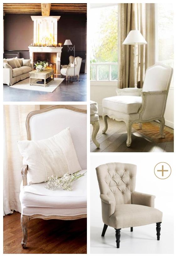 décoration fauteuil en lin