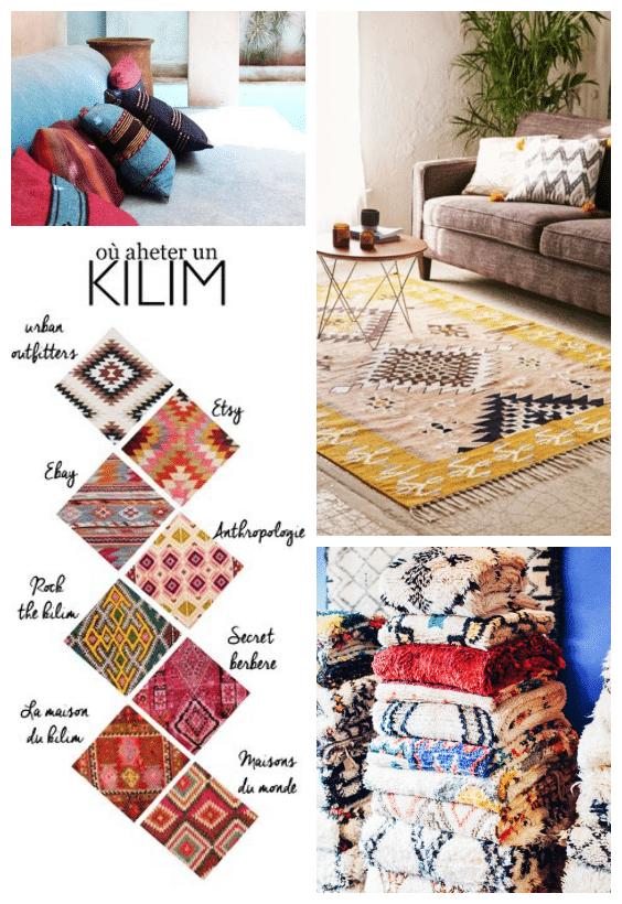tapis kilim déco bohème chic