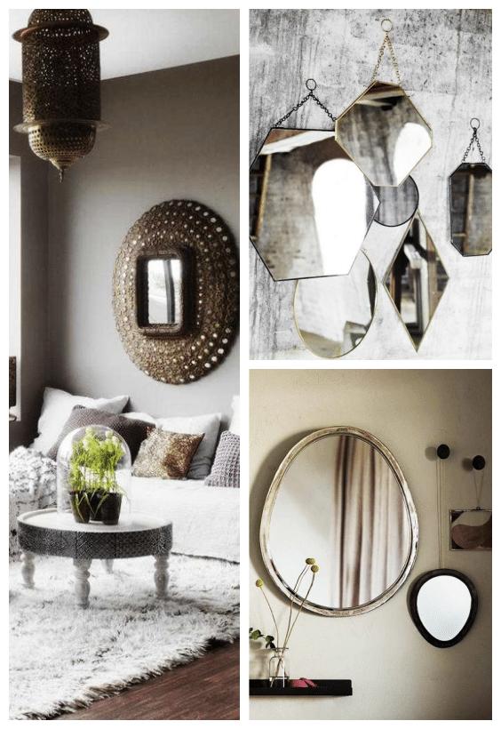 miroir métal déco bohème