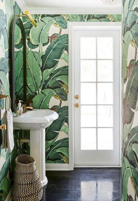 décoration jungle salle de bain