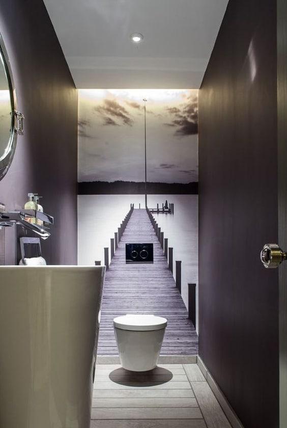 papier peint wc