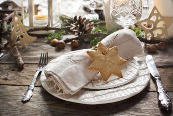 Une belle table avec les tendances déco de Noël 2017